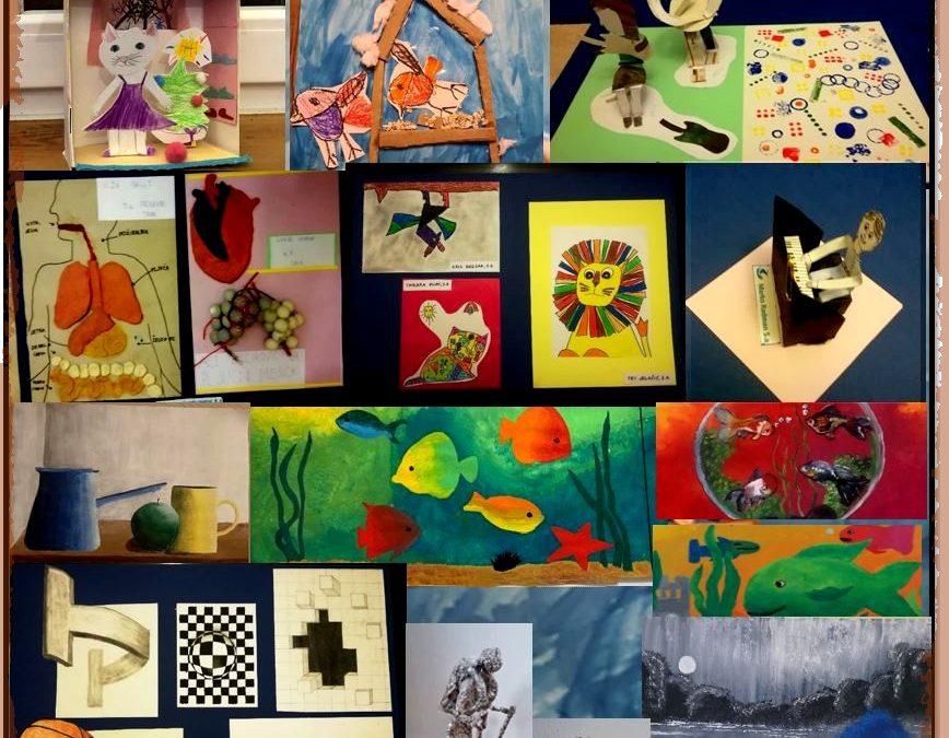 """Umetnost učencev v """"lockdownu"""""""
